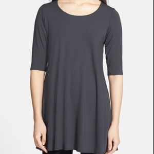 Eileen Fisher Scoopneck Jersey Tunic